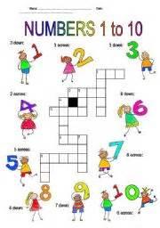 esl kids worksheets numbers 1 10