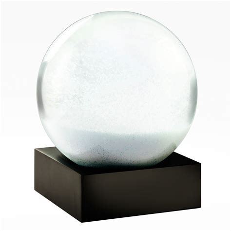 minimalist snowball snow globe the green head