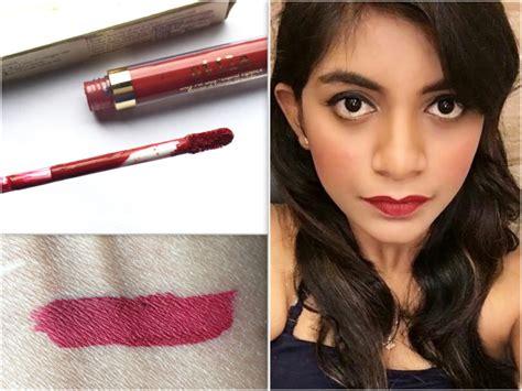 Lipstik Stila stila stay all day liquid lipstick fiery review swatches