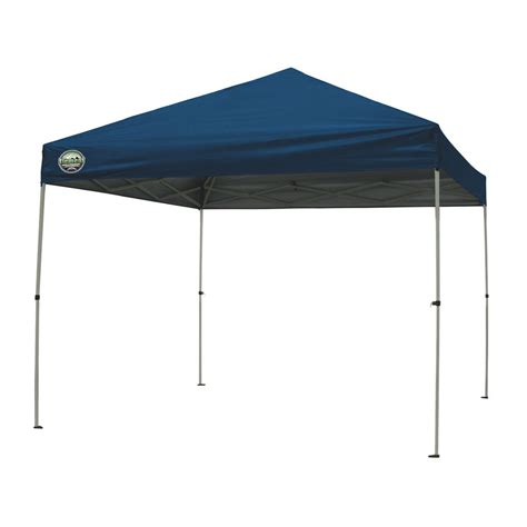 pop up awnings and canopies shop garden treasures 8 ft w x 10 ft l retangular blue