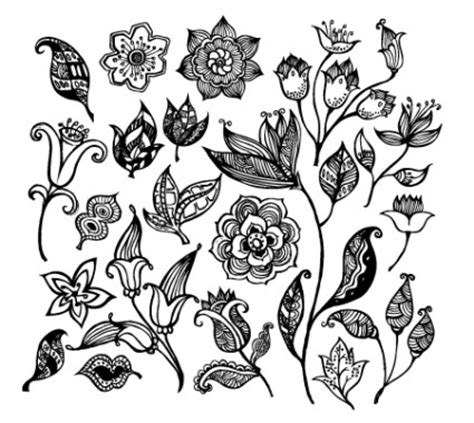 Wall Sticker Black Siluet Uk 60x90 gambar bunga hitam putih