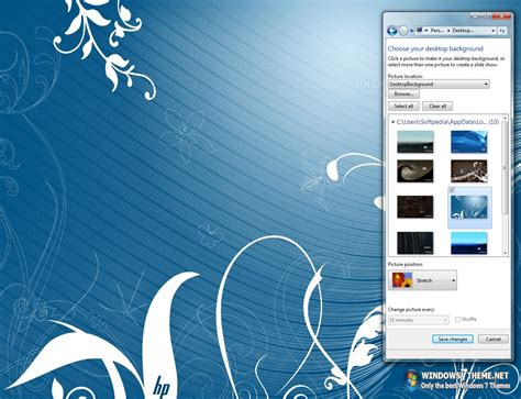 themes pc hp hp windows 7 theme download