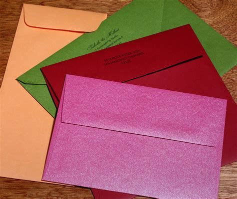 colored envelopes colored envelopes for wedding invitation sets