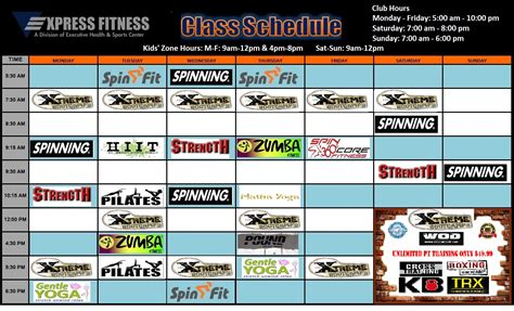 Sq Ft To Ft by Fitness Class Group Exercise Schedules At Express Fitness