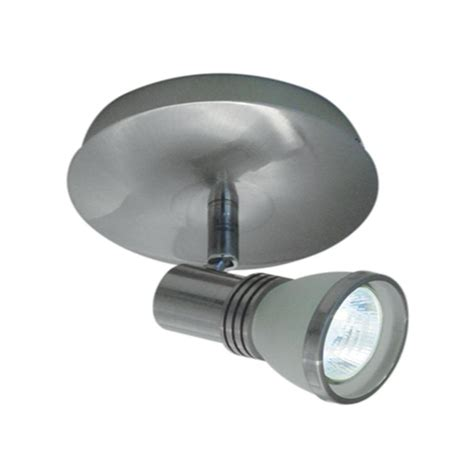Brushed Chrome Ceiling Lights Bazz 1 Light Accent Brushed Chrome Halogen Ceiling Fixture With One White Frosted Glass Spot