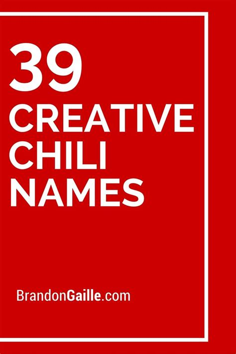 clever names clever and names for image gallery chili names