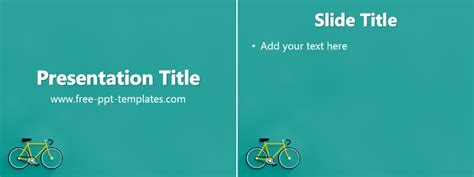 Bicycle Ppt Template Free Powerpoint Templates Bicycle Ppt Templates Free