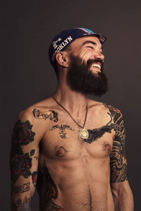 guys with beards and tattoos gouda tattoo beard randos pinterest
