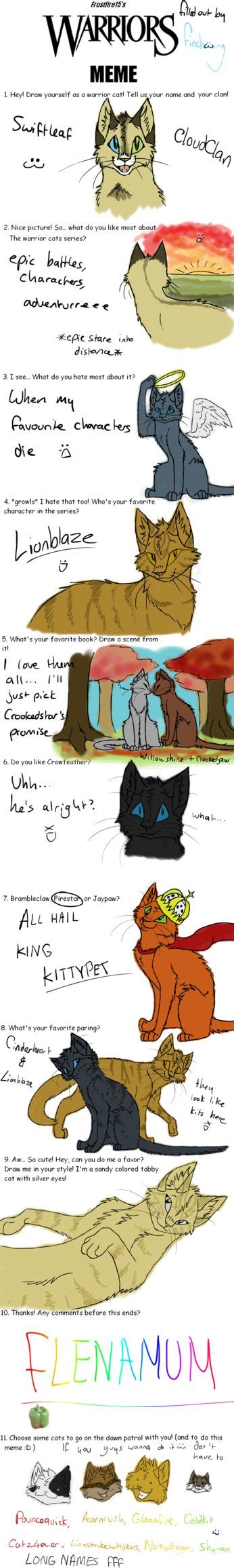 Warrior Cats Meme - warrior cats meme 6 12 11 by finchwing on deviantart