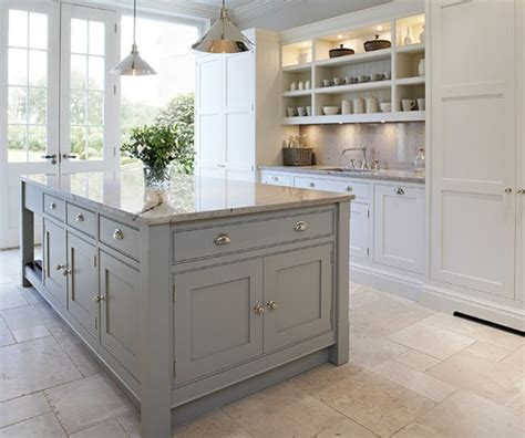 White Kitchen Gray Island by Kitchens Chunky Gray Kitchen Island White Kitchen