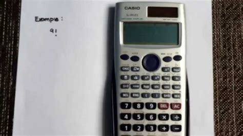 calculator factorial calculating factorials using the casio fx 991es calculator