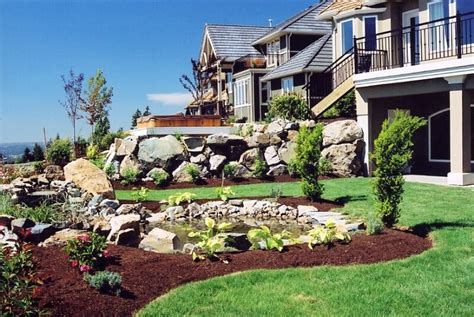 small sloped backyard landscaping landscapes ideas sloped front yard landscaping ideas small