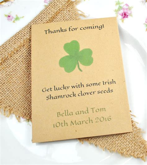 Wedding Favors Seeds by Shamrock Seed Packet Wedding Favour Wedding Favour