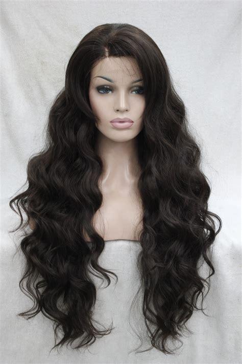 new fashion brown wig s wavy quality fashion wavy synthetic medium brown