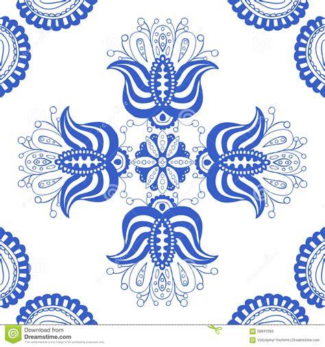pattern design netherlands blue seamless pattern stock vector image 58941993