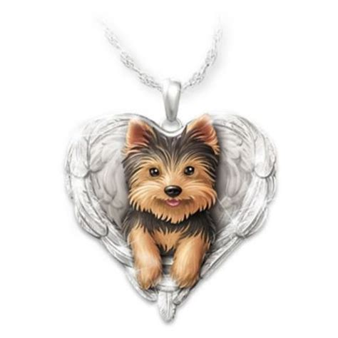 yorkie items quot yorkies are quot shaped pendant necklace at beautiful items