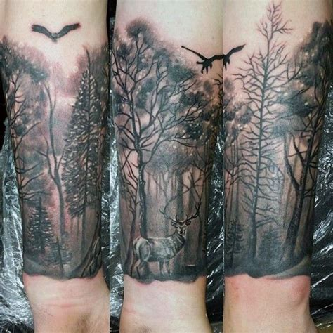 nature wrist tattoos 100 forest designs for masculine tree ink
