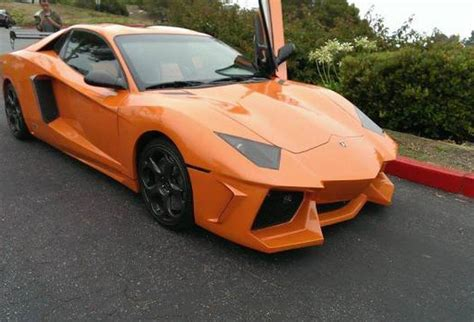 overkill orange lamborghini aventador replica spotted in