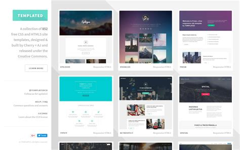 templated  css html  responsive site templates