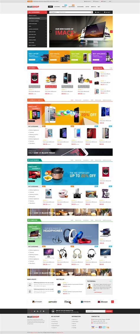 themeforest ecommerce html maxshop multipurpose ecommerce html template by