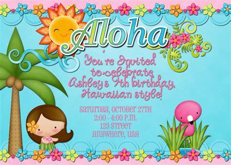 hawaiian birthday card template hawaiian luau birthday invitation