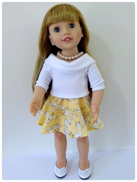 doll on doll clothes patterns by valspierssews skater skirt doll