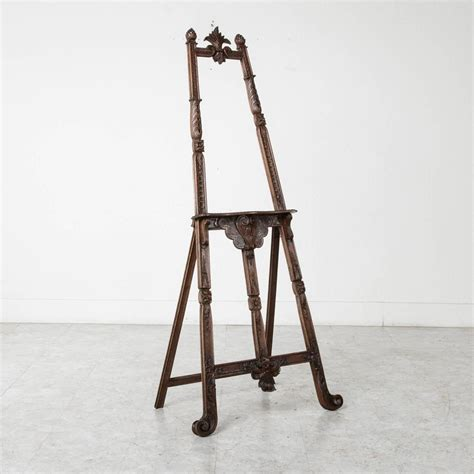 Decorative Floor Easel Stands by 19th Century Carved Walnut Artist S Floor