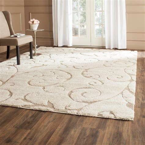 8 x 12 area rug safavieh florida shag beige 8 ft 6 in x 12 ft