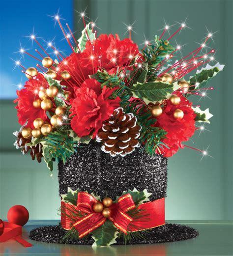 lighted flower centerpieces black top hat lighted fiber optic floral table centerpiece ebay