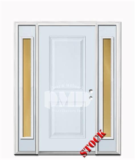 Exterior Door Ratings 2 Panel Square Steel Exterior Door With Sidelites 6 8 Door And Millwork Distributors Inc
