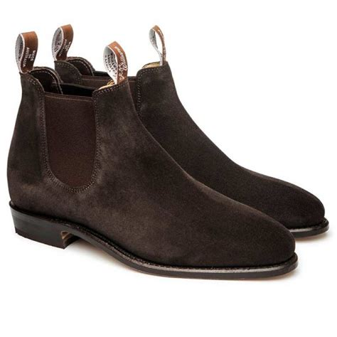 rm williams adelaide boots chocolate brown suede