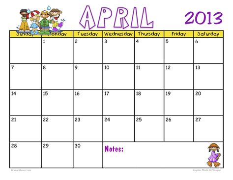 free printable calendar templates for kids printable