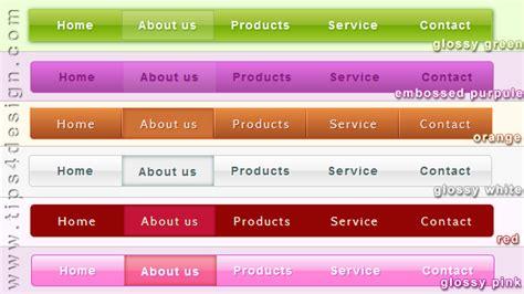 design menu horizontal free css3 horizontal menu classes tips4design