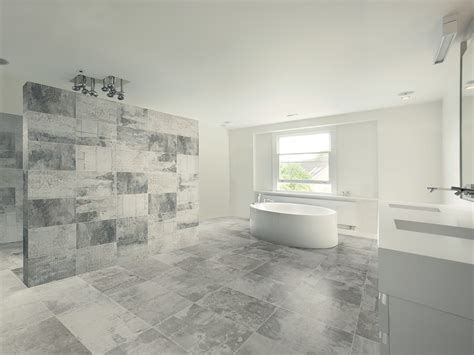 Bathroom Ideas Contemporary by Tiles That Looks Like Oxidized Glazed Metals And Exposed