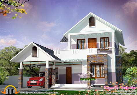 simple modern house simple modern house in 1700 sq ft kerala home design and