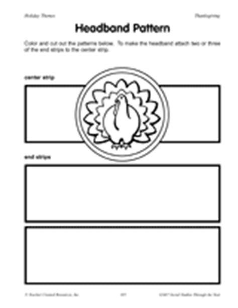 printable turkey headband template favorite thanksgiving art activities crafts grades k 1