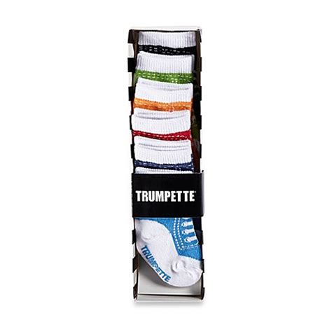 Trumpette Baby Socks Cameron S 0 12m trumpette johnny size 0 12m 6 pack high top sneaker socks