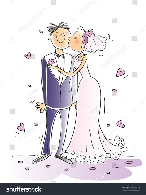 Wedding Congratulations Logo by Wedding Congratulations Card Vector Illustration Happy