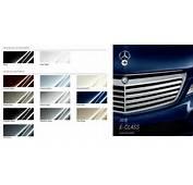 Mercedes Benz E Class Paint Colors  Black Polar White Cuprite Brown