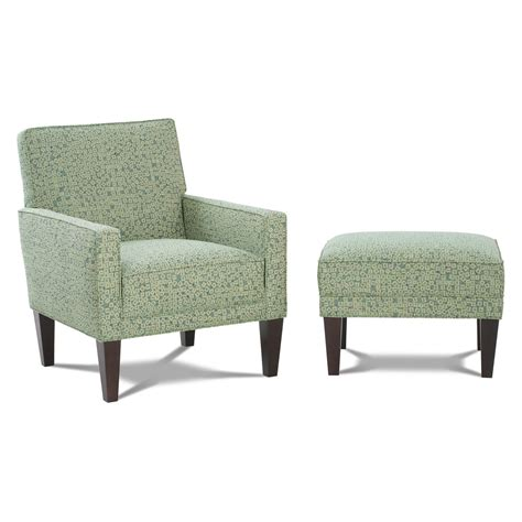 Side Chair With Ottoman Accent Chair With Tapered Wooden Legs And Ottoman Set Decofurnish