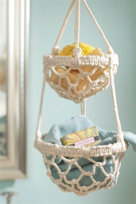Macrame Hanging Baskets - diy macrame hanging basket free macrame tutorial on
