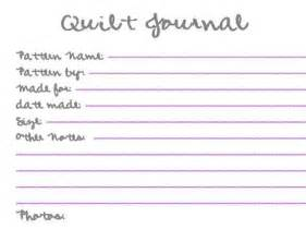 Quilt Journal Template by 6 Best Images Of Printable Quilt Journal Pages Free