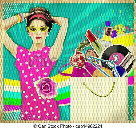 banco imagenes retro banco de fotos de jovem mulher cor de rosa vestido