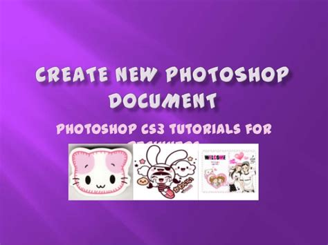tutorial photoshop slideshare adobe photoshop creating new document