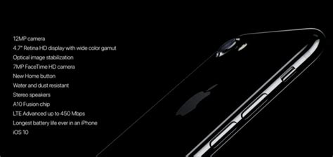 apple iphone 7 iphone 7 plus launched price specifications features