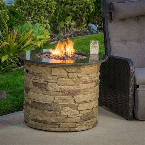 outdoor propane firepits rogers outdoor liquid propane pit with lava rocks