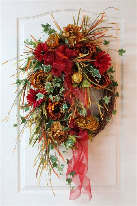 Beautiful Floral Wreaths Autumn Wreath Rustic Wreath Beautiful Front Door Wreaths
