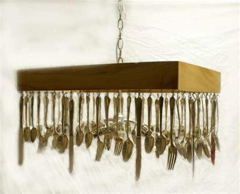 Cutlery Chandelier upcycled cutlery illuminators silverware chandelier
