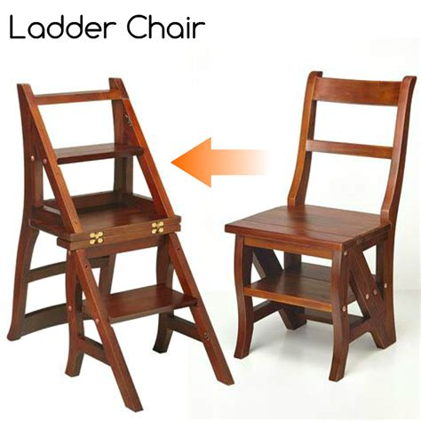 Step Stool Chair by Step Ladder Chair Solid Wood Folding Step Stool Chair
