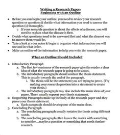 Research Paper Outline Template by Research Paper Outline Template 9 Free